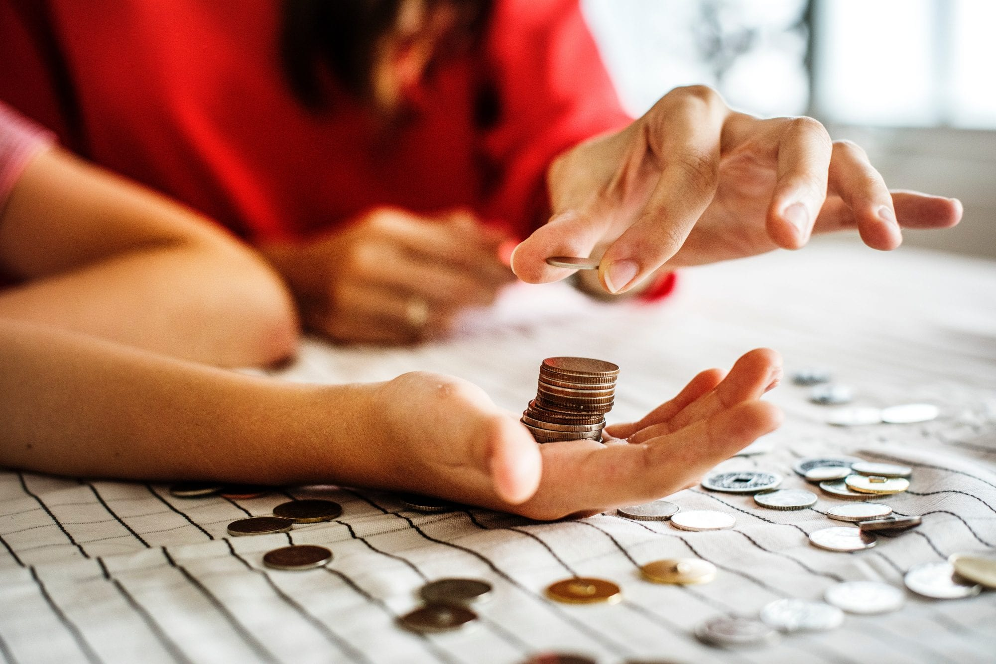 Counting money image